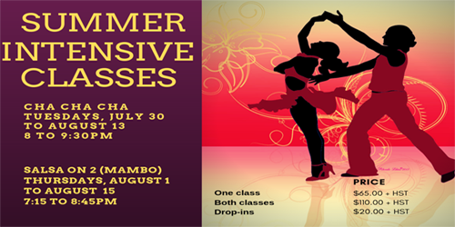 *Summer Dance Intensive – Cours intensifs de danse